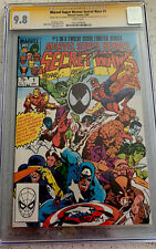Secret Wars #1 CGC 9.8 SS Signed By Beatty Zeck And Shooter