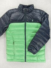 Polo Ralph Lauren Down Insulated Winter Jacket (Youth Large 14/16) Blue/Green