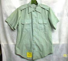 *XSALE U.S. ARMY 1980 COTTON POLY AG-415 GREEN SS DRESS UNIFORM SHIRT - SZ 15