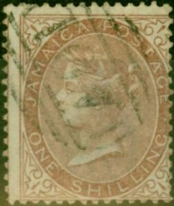 Jamaica 1860 1s Yellow-Brown SG6 Fine Used