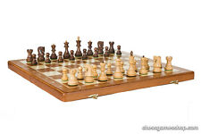 Tournament Dubrovnik ROYAL S folding wooden chess set - Sheesham wood, GIFT ITEM