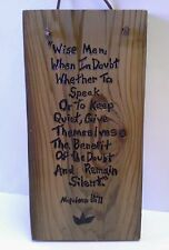 Napolean Hill Wise Men Quote Original Art Reclaimed Wood Wall Plaque