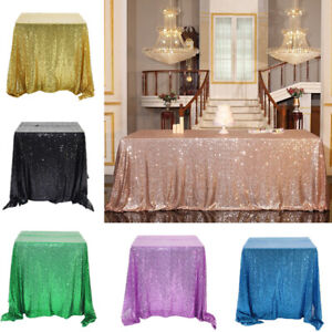 Table Cover Glitter Sequin Table Cloth Tablecloth Hotel Wedding Xmas Party Home