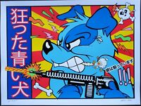 Blue Dog Art Print 2020 Frank Kozik A/P Edition Beastie Boys