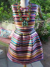 RARE~Vintage Serape Retro Rockabilly Pinup Party Dress~S/XS~Love Fish