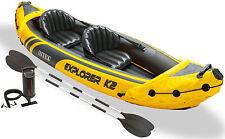 INTEX Explorer K2 Kajak Set Schlauchboot Paddel Pumpe für 2 Personen