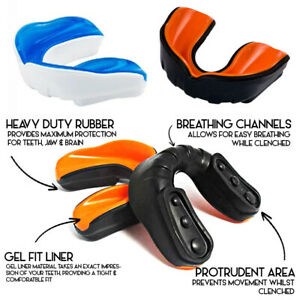 Morgan Sports - A+ Gel Fit Protective Mouth Guard - Breathable Channel - 2 Sizes