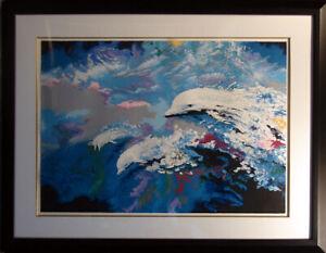 """Robert Katona """"Dolphins of Neptune"""" Hand Signed Fine Art Serigraph LE Make Offer"""