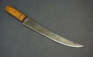 "++ VINTAGE HIGH CARBON 10"" BUTHER'S BREAKING KNIFE - SUPER SHARP! ++"