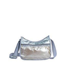 LeSportsac Opal Mist Classic Hobo Crossbody Bag, Opal & Cabochon 2 Tone Metallic
