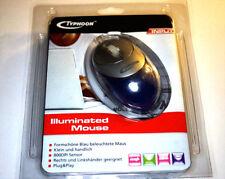 Typhoon iluminados/illuminated ratón ps2 USB ordenador PC mouse con cable azul