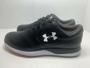 NEW UNDER ARMOUR PERFORMANCE SL LEATHER SPIKELESS GOLF SHOES 9 $150
