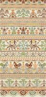 New Counted Cross Stitch Embroidery Kit Russian Traditions Sampler Panna