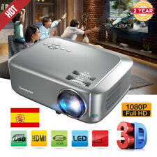 3D 1080P FHD 5500 Lumens LED Video Proyector Cine En Casa VGA/USB/HDMI 16:9/4:3
