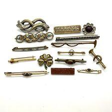 Antique Victorian gilt metal bar brooches job lot #185