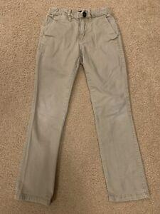 Boys Gap Slim Straight Stretch Khaki Pants Size: 8