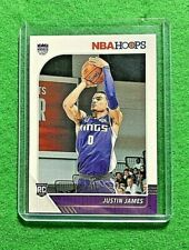 JUSTIN JAMES NBA HOOPS ROOKIE CARD SACRAMENTO KINGS RC 2019-20 HOOPS BASKETBALL