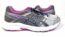 ASICS Women's Gel-Contend 4 Running Shoe, Silver/Campanula/Carbon,  7.5 D (Wide)