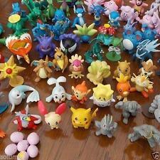 Random -24pcs/set Pikachu Pokemon Mini Action Figure 2-3cm Pocket Monster Toys