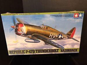 """TAMIYA 61086 REPUBLIC P-47D THUNDERBOLT """" RAZORBACK"""" MODEL KIT-NIB-1/48 SCALE"""