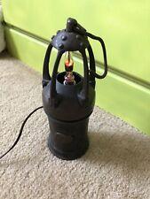 Vintage European Miner's Lamp Electrified