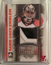 11/12 BROAD ST BOYS - RAY EMERY - EMBLEM ORANGE - ITG FINAL VAULT 15/16 #1/1 RED