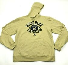 Adidas Notre Dame Hoodie Size Medium M Hooded Pullover Sweatshirt FIGHTING IRISH