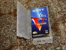 Vintage Clear Polypropylene Plastic Snap-Close VHS Media Storage Case w/o Hub!