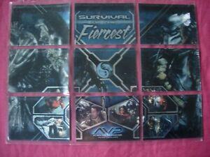 Alien vs Predator: X9 Survival of the Fiercest Chase Cards Inkworks 2004 VFN
