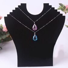 Fashion Useful Black Velvet Necklace Chain Stand  Jewellery Holder Shop Display