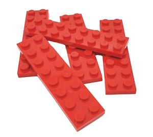 5 Stück Lego Platte 2x8 rot, 303421 / 3034, NEU