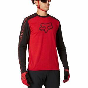 New Fox RANGER DRIRELEASE LONG SLEEVE Men's Mountain Bike JERSEY in Chili Red