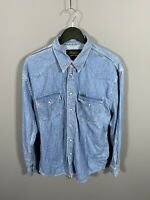 WRANGLER DENIM Shirt - Size Large - Blue - Great Condition - Men's