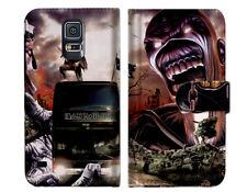 Iron Maiden Wallet Case Cover For Samsung Galaxy S5 - A014