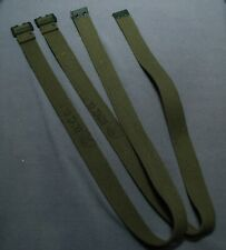 CANADIAN ARMY 51 PATTERN WEBBING P51 LONG STRAPS PAIR GRADE 1 CONDITION