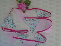 FLAMINGO & PINK BUNTING FUN PARTY HOME DECOR  DECORATION GARDEN PARTIES TEA NEW