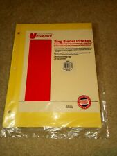 Universal Ring Binder Indexes 3 Hole Punched 11x85