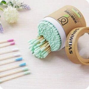 Bamboo Cotton Swabs Wood Sticks Ear Buds Cleaning Tampons Cotonete Pampon 200Pcs