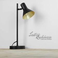 Rétro Lampe de table en noir-or pivotant lampe de table E14 Design lampe