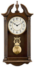 Bulova Saybrook Hardwood Cherry Finish Chime Pendulum Wall Clock C1517