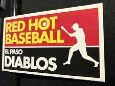 1983 El Paso Diablos Baseball Pocket Schedule Arby's Version Brewers Farm Team