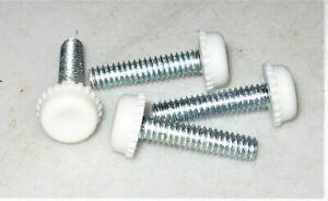 4 spacers standoffs legs stands steel screws white plastic base light support  K