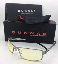 New GUNNAR Computer Glasses SHEADOG 56-18 Mercury Frame w/ Amber Yellow