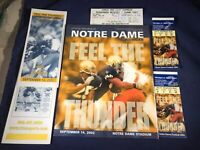 K1-55 NOTRE DAME VS MICHIGAN STATE FOOTBALL PROGRAM -SEP 14, 2002 - WITH TICKETS