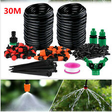 More details for 30m micro drip irrigation watering automatic garden plant greenhouse system uk