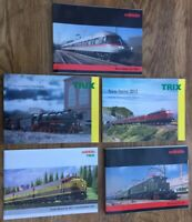 5 x A4 Marklin & Trix Model Railway colour catalogues 2011 2012 HO Minitrix