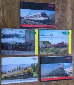 5 x A4 Marklin & Trix Model Railway colour catalogues 2011 2012 HO Minitrix
