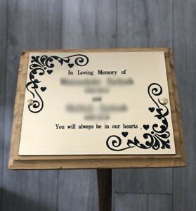 Wooden Memorial Cremation Marker Memorial Plaque Wooden Stake Arabic English