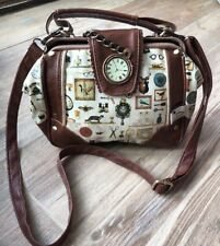 "Modcloth Disaster Designs ""granny Attic Print Adorable Handbag With Strap Euc"