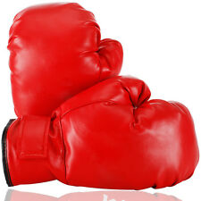 Children Kids PU Leather Boxing Glove for Training Competition Sports Red